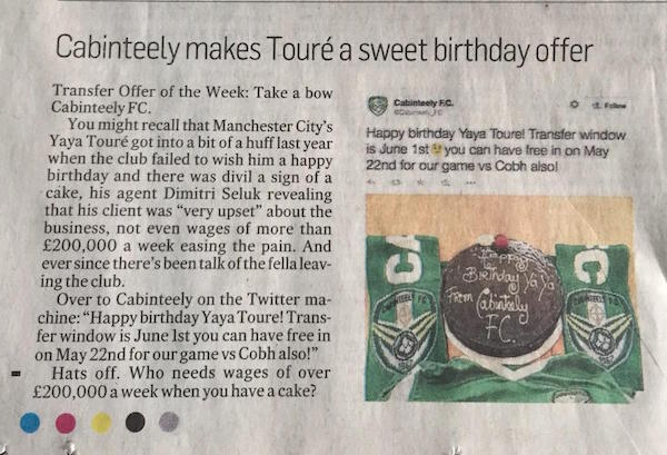 cabinteely fc the irish times