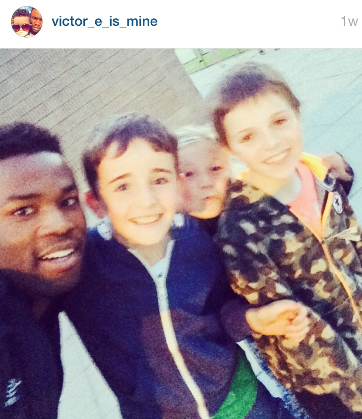 Centre Back Victor Ekanem, thanking the fans for their support via Instagram.