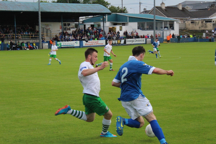 Stephen Hanley tackle Finn Harps