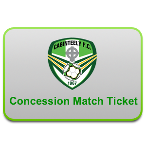 concessions cabinteely match ticket